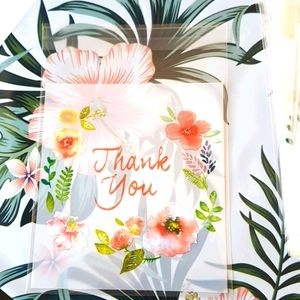 """NEW 25 pcs Thank You Clear Bags Threat Bags 4"""" In."""
